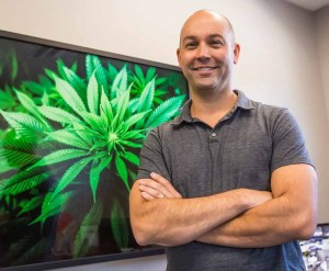 """Aron Swan is the general manager of Silver State Relief, Nevada's first medical-marijuana dispensary. The dispensary on Greg Street in Sparks opened last Friday. """"It's very rewarding and emotional just being able to help those in pain,"""" he says. (John Byrne)"""