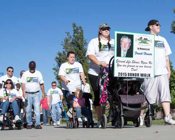 John Byrne/Tribune Participants in the 8th annual Donor Walk stroll around the Sparks Marina on Sunday. The Sierra Nevada Donor Awareness organization sponsored the two-mile fun walk to raise awareness about the life-saving possibilities of organ and issue donations.