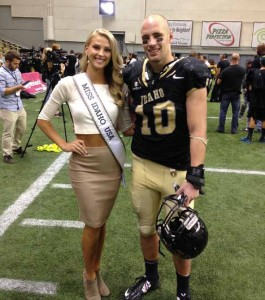 Courtesy photo Sydney Halper, a Reed High School graduate, was crowned Miss Idaho USA last month. She's shown here with her boyfriend, Broc Westlake, a former star athlete at Reed who plays football for the University of Idaho.