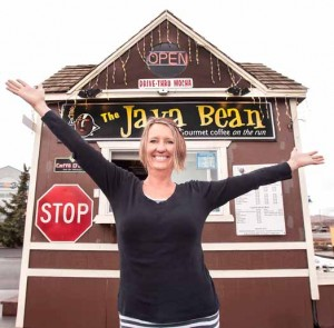 """John Byrne/Tribune Karon Nelson, owner of the Java Bean in Sparks, says she can't wait to get to work in the morning. """"I love this place,"""" she says of her coffee business. """"I call it my little empire."""""""