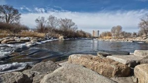 John Byrne/Tribune The Truckee River, as seen looking west from Sparks.