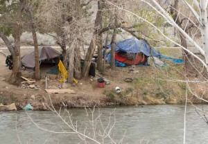 John Byrne/Tribune The Sparks City Council is considering an ordinance to address homeless camps along the Truckee River, like the one shown here, by prohibiting camping. City officials say the issue is a delicate one because of the need to balance the public's interest with individual rights.