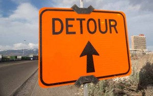 John Byrne photos/Tribune Nugget Avenue between Pyramid Way and McCarran Boulevard will be reduced to one lane over the next couple of months while the road is reconstructed.