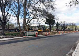 Courtesy photo Construction cones line the street near one section of the Pyramid and McCarran construction project.