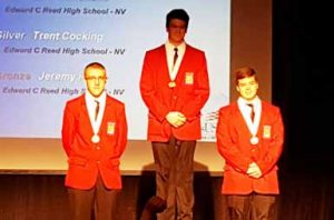 Courtesy photo Top winners of the welding division featured three members of the Reed High team.
