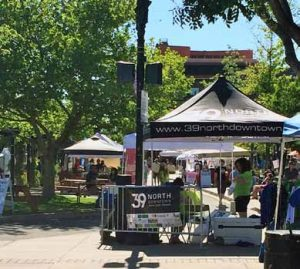 Dawn Cranfield The 39 North Downtown booth is one of many at the weekly Outdoor Marketplace event in Sparks.