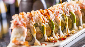 Ijji Sushi and Hibachi off Prater Way offers a vast variety of specialty sushi rolls.
