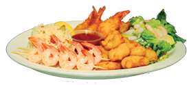 "The ""All You Can Eat Shrimp Combo"" at Baldini's Sports Casino is a favorite on the over 55 menu."