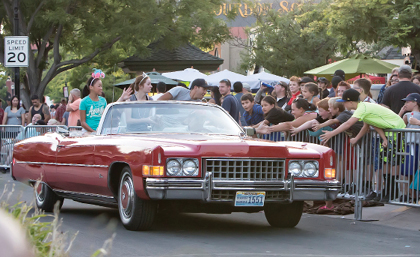 John Byrne photos/Tribune - A look at an evening cruise through Victorian Square during the 2016 Hot August Nights celebration. The 30th annual event came to a close on Sunday.