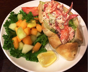 The New England Lobster Roll at the Nugget Oyster Bar.