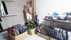 Courtesy photo -  Sparks Troop 14 Boy Scout Jacob Bond delivered 52 backpacks full of school supplies to Redfield Academy School as part of his Eagle Scout project.