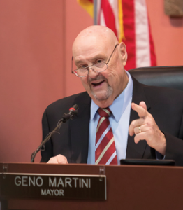 John Byrne/Tribune file photo - The Nevada League of Cities & Municipalities has Sparks Mayor Geno Martini as the 2016 Public Official of the Year.
