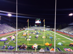 Courtesy photo - Scout tents dot the Wolf Pack Football Field at Mackay Stadium during a previous overnight campout.