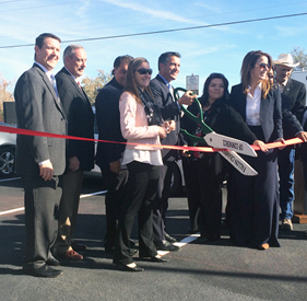 Courtesy photo Governor Brian Sandoval and officials celebrate the second Nevada Electric Highway charging stations to go operational during a ribbon cutting ceremony in Fallon Monday.