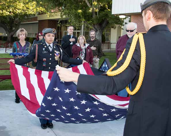 Sparks High Holds Dedication Ceremony for New Flag