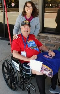 Steve Ranson  Sparks native Woody Peterson was greeted at the airport by his daughter, Denise Murphy after returning from Washington, D.C.